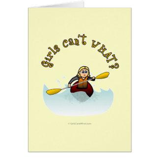 Blonde Female Kayaker Card