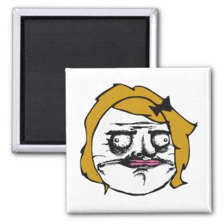Blonde Female Me Gusta Comic Rage Face Meme Magnet