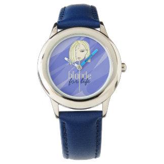 Blonde For Life Stylish Girl Cartoon Trendy Funny Watch