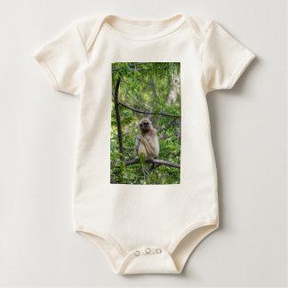 Blonde Gibbon Monkey - Hylobates lar Baby Bodysuit