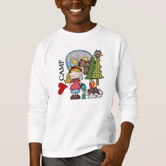 Blonde Girl I Love Camp T-shirts