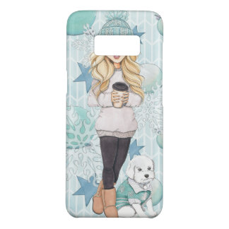 Blonde Girl with White Puppy Case-Mate Samsung Galaxy S8 Case