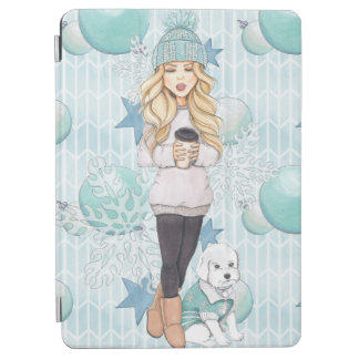 Blonde Girl with White Puppy iPad Air Cover