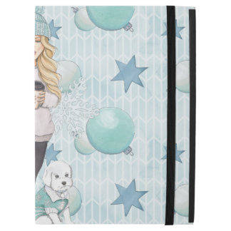 """Blonde Girl with White Puppy iPad Pro 12.9"""" Case"""