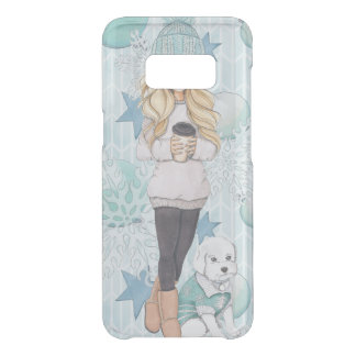 Blonde Girl with White Puppy Uncommon Samsung Galaxy S8 Case