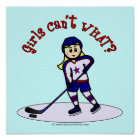 Blonde Girls Hockey Player Poster