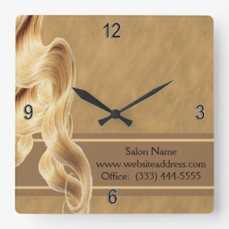 Blonde Hair Stylist Wall Clock
