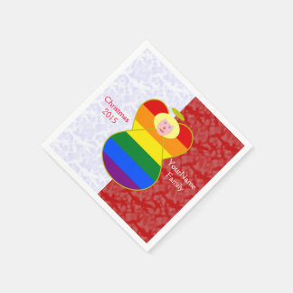 Blonde-haired Gay Pride Angel Flag Red White Disposable Napkins