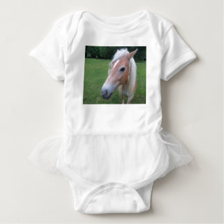 BLONDE HORSE BABY BODYSUIT