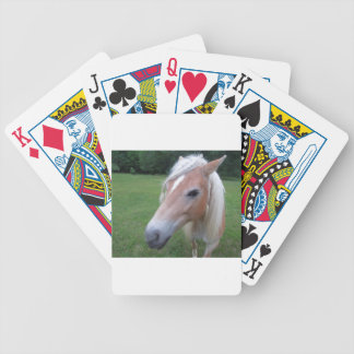 BLONDE HORSE BICYCLE PLAYING CARDS