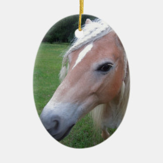 BLONDE HORSE CERAMIC ORNAMENT