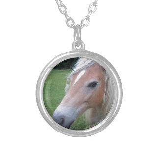 BLONDE HORSE SILVER PLATED NECKLACE