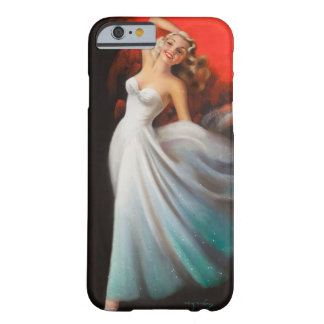 Blonde in White Dress Pin Up Art Barely There iPhone 6 Case
