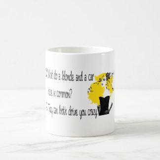 Blonde joke coffee mug