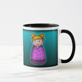 Blonde Kokeshi, mug