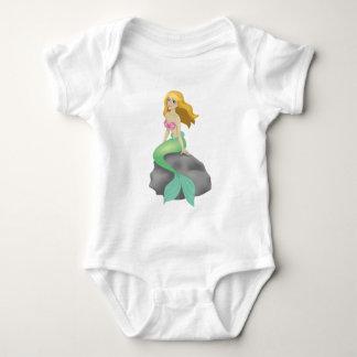 Blonde Mermaid Baby Bodysuit