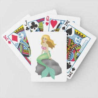 Blonde Mermaid Bicycle Playing Cards