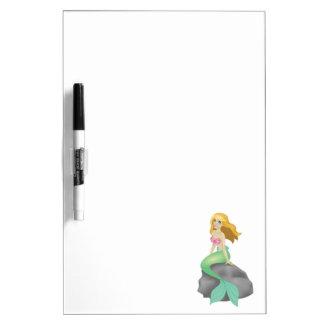 Blonde Mermaid Dry Erase Board