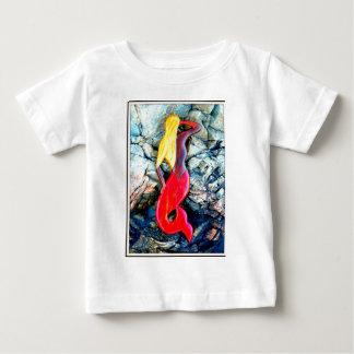 blonde mermaid in red baby T-Shirt