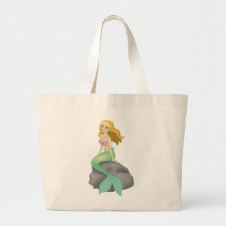 Blonde Mermaid Large Tote Bag