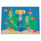 Blonde Mermaid Pool Party Large Gift Bag