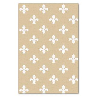 Blonde Neutral Fleur de Lys Tissue Paper