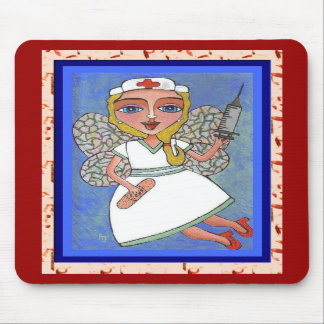 Blonde Nurse Fairy - RN LPN mousepad