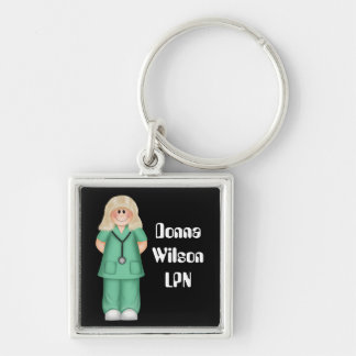 Blonde Personalized Nurse Keychain