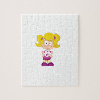 blonde pigtails jigsaw puzzle