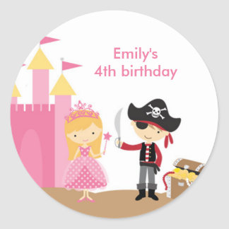 Blonde Princess and Pirate Stickers