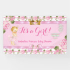 Blonde Princess Baby Shower Pink Roses Tea Party Banner