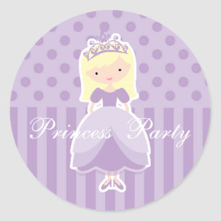 Blonde Princess Party Sticker