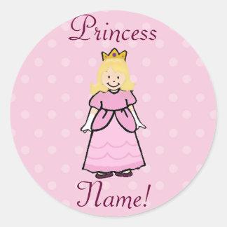 Blonde Princess Stickers