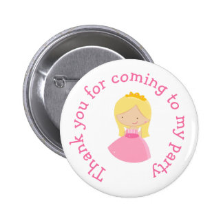 Blonde Princess thank you for coming Badge 2 Inch Round Button