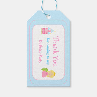 Blonde Princess Thank You Gift Tag