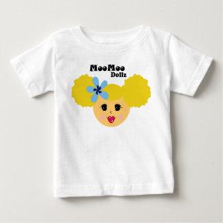 Blonde Pucker Lip Moo Moo Dollz Baby T-Shirt