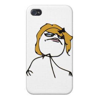 Blonde Rage Girl Meme iPhone 4 Cover