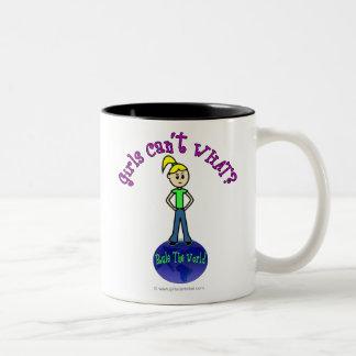 Blonde Rule The World Two-Tone Coffee Mug