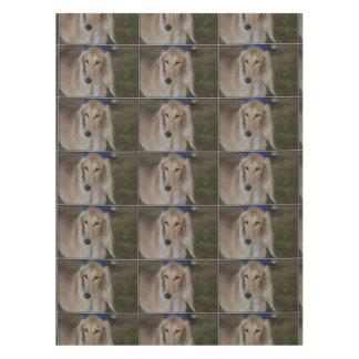 Blonde Saluki Dog Tablecloth
