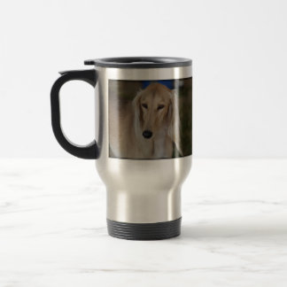 Blonde Saluki Dog Travel Mug