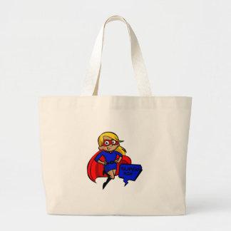 blonde super mom large tote bag