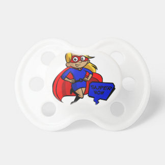 blonde super mom pacifiers