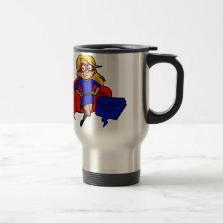 blonde super mom travel mug