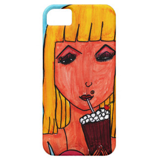 Blonde with Milk Shake iPhone 5 Case