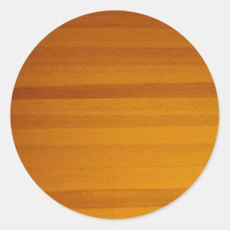 blonde wood grain pattern round sticker