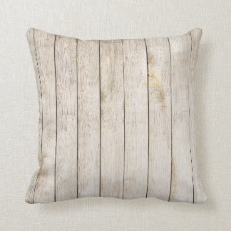 Blonde Wood Plankes Throw Pillow