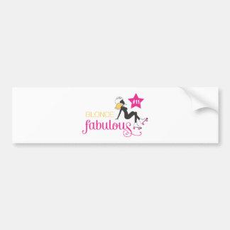 BlondeFabulous_Final.pdf Bumper Sticker