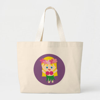 BlondeHulaGirl3 Large Tote Bag