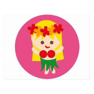 BlondeHulaGirl5 Postcard