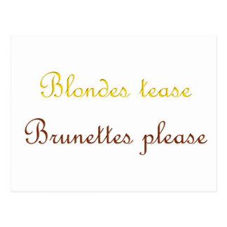 Blondes&Brunettes Postcard